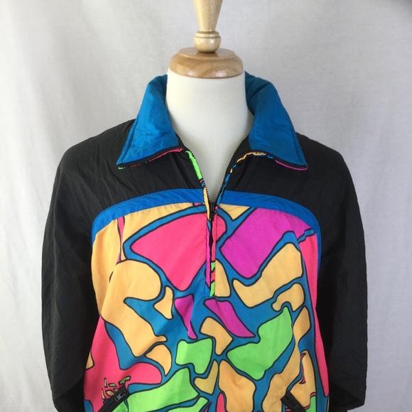 hotdogger Jackets   Blazers - HOTDOGGER L Vintage 80s Wild Fun Track Ski  Jacket 31a3f4460